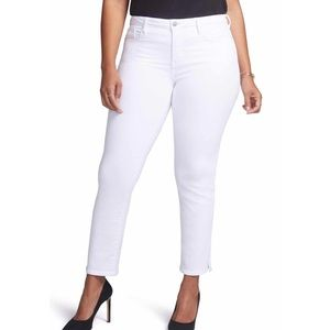 NWT NYDJ Curves 360 Slim Straight Ankle Jeans 14